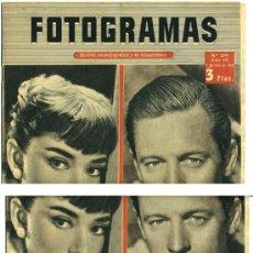 Cine: FOTOGRAMAS Nº 279 DE 1954. AUDREY HEPBURN.. Lote 27171012