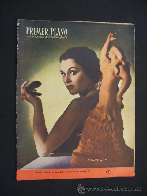 PRIMER PLANO - Nº 510 - PORTADA: PAQUITA RICO - (Cine - Revistas - Primer plano)