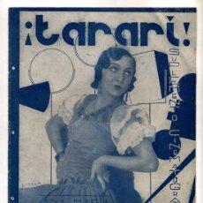 Cine: REVISTA ¡TARARI! - TEMPORADA 1934 - 1935. Lote 27464994