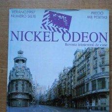 Cine: NICKEL ODEON. REVISTA TRIMESTRAL DE CINE. VERANO 1997. Nº 7. MADRID Y EL CINE.. Lote 27517440