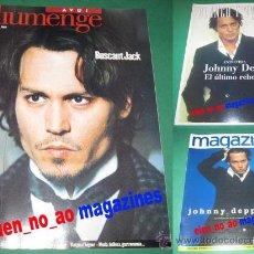 Cinéma: JOHNNY DEPP~LOTE DE 3 REVISTAS MAGAZINE 1997 ~ BLANCO Y NEGRO 2000 ~ AVUI DIUMENGE 2002 . Lote 27646325
