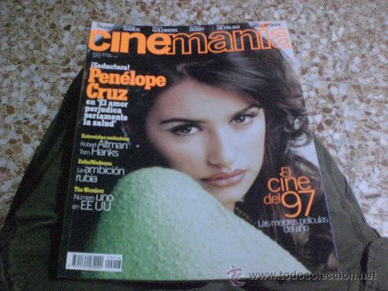 REVISTA AÑO 1997 CINEMANIA PORTADA PENELOPE CRUZ REPORTAJE MADONNA EVITA ENTREVISTA TOM HANKS (Cine - Revistas - Cinemanía)