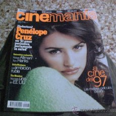 Cine: REVISTA AÑO 1997 CINEMANIA PORTADA PENELOPE CRUZ REPORTAJE MADONNA EVITA ENTREVISTA TOM HANKS. Lote 27771208