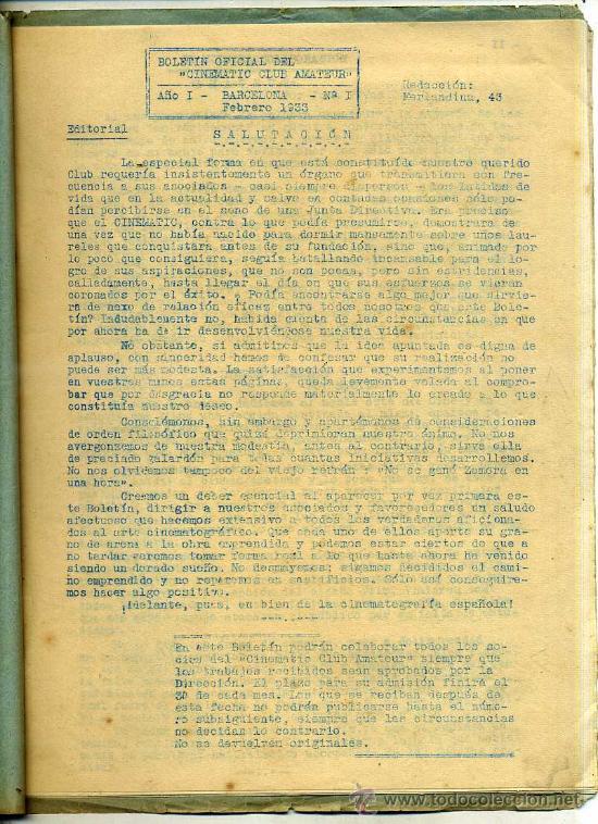 Cine: BOLETÍN OFICIAL DEL CINEMATIC CLUB AMATEUR 1933 A 1937 - 32 NÚMEROS - Foto 7 - 27797345