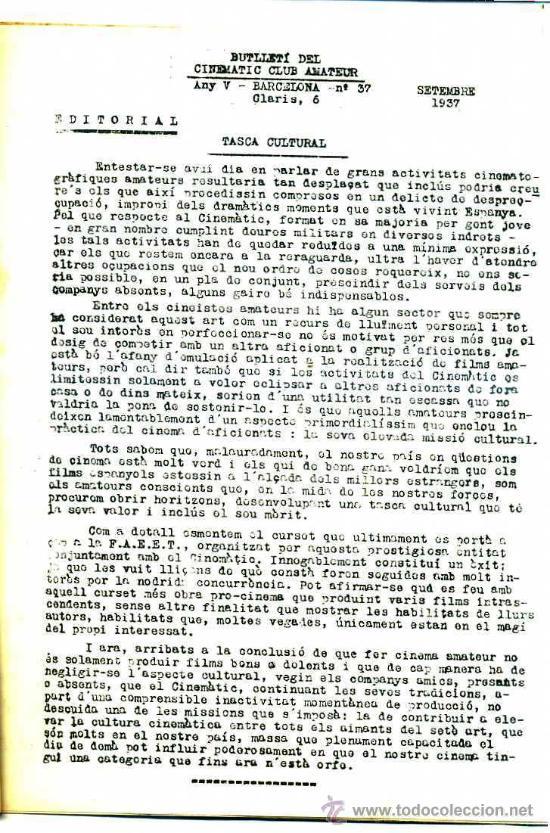 Cine: BOLETÍN OFICIAL DEL CINEMATIC CLUB AMATEUR 1933 A 1937 - 32 NÚMEROS - Foto 2 - 27797345