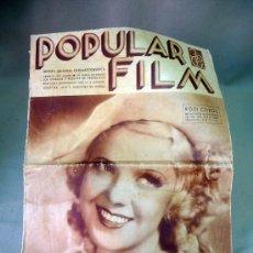 Cine: REVISTA SEMANAL CINEMATOGRAFICA, POPULAR FILM, 1935, Nº 458, ROZI CZIKOS. Lote 27859144