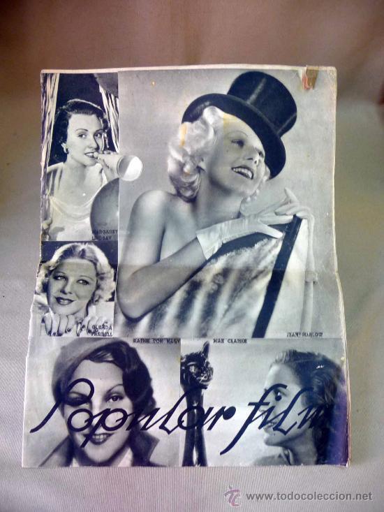 REVISTA SEMANAL CINEMATOGRAFICA, POPULAR FILM, 1937, Nº 553, SHERLEY TEMPLE, JEAN HARLOW (Cine - Revistas - Popular film)
