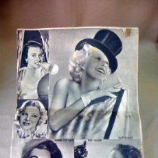 Cine: REVISTA SEMANAL CINEMATOGRAFICA, POPULAR FILM, 1937, Nº 553, SHERLEY TEMPLE, JEAN HARLOW. Lote 27859188