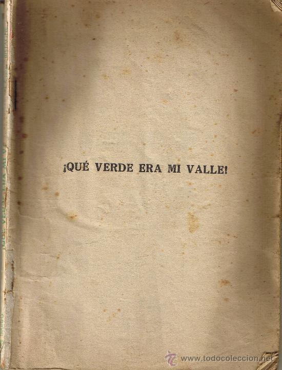 QUE VERDE ERA MI VALLE - EDICIONES BISTAGNE - DIRECCION JOHN FORD (Cine - Revistas - Cinema)