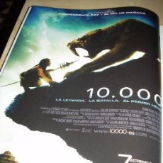 Cine: '10.000', DE ROLAND EMMERICH. PÁGINA DE PRENSA.. Lote 27938143