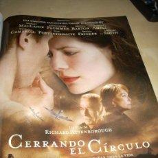 Cine: 'CERRANDO EL CÍRCULO', DE RICHARD ATTENBOROUGH. PÁGINA DE PRENSA.. Lote 101405106