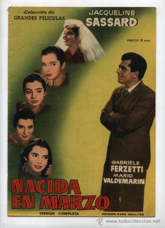 GRANDES PELICULAS. NACIDA EN MARZO. FHER 1958. (Cine - Revistas - Colección grandes películas)
