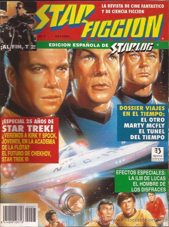 REVISTA-STAR FICCION-NUM 7-DICIEMBRE 91-STAR TREK- (Cine - Revistas - Star Ficcion)