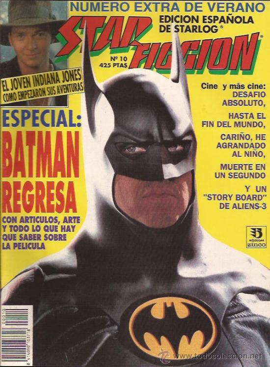 REVISTA-STAR FICCION-NUM 10-JUNIO 92-BATMAN- (Cine - Revistas - Star Ficcion)