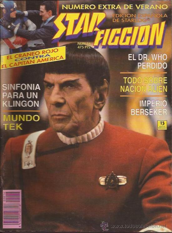 REVISTA-STAR FICCION-NUM 16-JULIO 93-STAR TREK (Cine - Revistas - Star Ficcion)