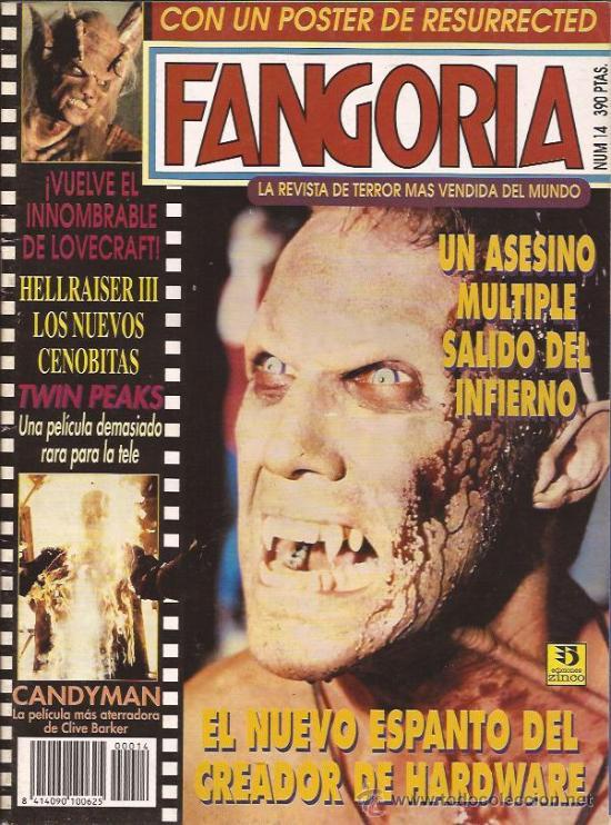 REVISTA DE CINE-FANGORIA NUM.14-DICIEMBRE 92 (Cine - Revistas - Fangoria)