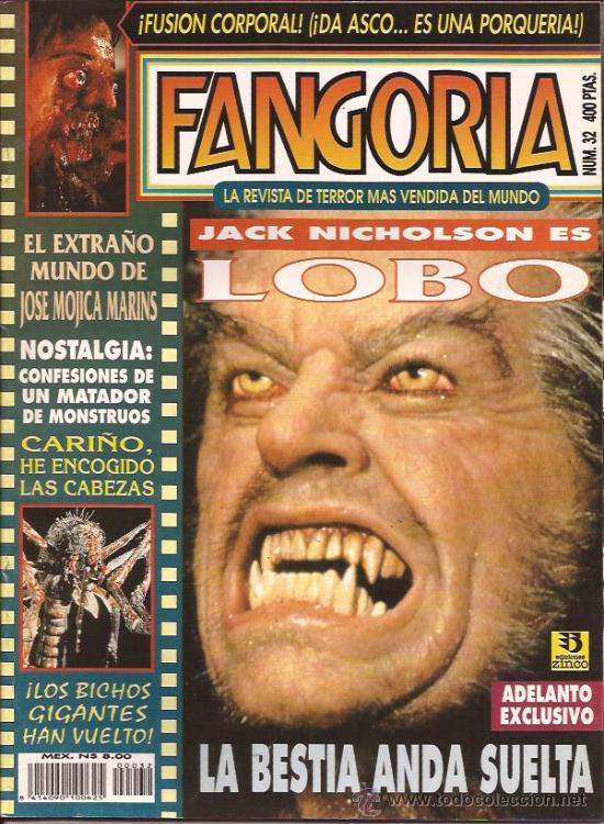 REVISTA DE CINE-FANGORIA NUM.32-SEPTIEMBRE 94 (Cine - Revistas - Fangoria)
