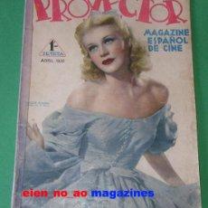 Cine: PROYECTOR MAGAZINE ESPAÑOL DE CINE Nº 6/1936 GINGER ROGERS~GARY COOPER~POSTER DESPLEGABLE~MUY RARA. Lote 28677242