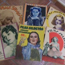 Cine: FILMS SELECTOS - 1934 - AÑO COMPLETO. Lote 28682247