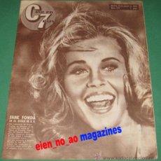 Cine: CINE EN 7 DIAS #175/1964~JANE FONDA~VICTORIA MAYO~IMA SUMAC~WALTER CHIARI~JOAQUIN MURRIETA. Lote 28710523