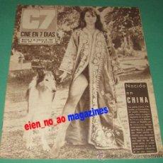 Cine: CINE EN 7 DIAS #305/1967 GRETA CHI~JULIE CHRISTIE~MARTINE CAROL~NORMAN WISDOM~GERALDINE CHAPLIN. Lote 28713887