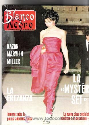 REVISTA BLANCO Y NEGRO JULIO 1988 KAZAN RARYLIN MILLER REPORTAJE INTERIOR DE MARYLIN MONROE (Cine - Revistas - Cinegramas)