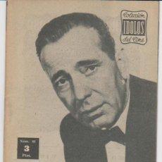 Cine: IDOLOS DEL CINE Nº 88. HUMPHREY BOGART.. Lote 28758073