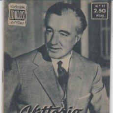Cine: IDOLOS DEL CINE Nº 11. VITTORIO DE SICA.. Lote 28759460