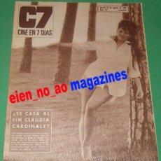 Cine: CINE EN 7 DIAS 281/1966 CLAUDIA CARDINALE~JOSEPH COTTEN~SENTA BERGER~LOS CINCO LATINOS~SOFIA LOREN. Lote 28762237