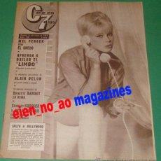 Cine: CINE EN 7 DIAS 109/1963 ELKE SOMMER~ALAIN DELON~JOSÉ RUBIO~MEL FERRER~SYLVIE VARTAN~ANITA EKBERG. Lote 33569655