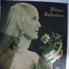 Cine: FILMS SELECTOS.Nº 268. DICIEMBRE DE 1935. PORTADA DE ANITA LOUISE. Lote 28886004