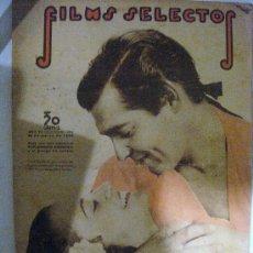 Cine: FILMS SELECTOS.Nº 284. 28 DE MARZO 1938. PORTADA DE CLARK GABLE ESCENA DE