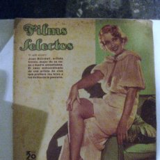 Cine: FILMS SELECTOS.Nº 228. 3 DE MARZO DE 1935. PORTADA DE JOAN BLONDELL.. Lote 28886476