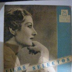 Cine: FILMS SELECTOS.Nº 266. 23 DE NOVIEMBRE DE 1935. PORTADA DE LINA YEGROS. MAE WEST EN LA INTIMIDAD. Lote 28886519