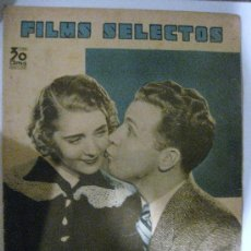 Cine: FILMS SELECTOS.Nº 230. 16 DE MARZO DE 1935. PORTADA DE RUBY KEELER Y DICK POWELL. Lote 28886613