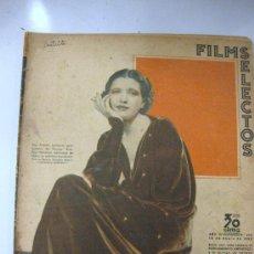 Cine: FILMS SELECTOS.Nº 274 . 18 DE ENERO 1936. PORTADA DE KAY FRANCIS. Lote 28921081