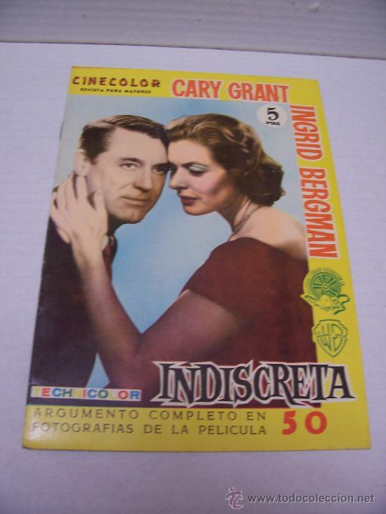CINE - INDISCRETA - CINECOLOR,REVISTA PARA MAYORES (Cine - Revistas - Cinecolor)
