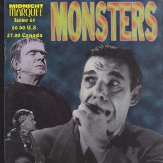 Cine: MIDNIGHT MARQUEE MONSTERS 61 - BELA LUGOSI, FRANKENSTEIN MEETS THE WOLF MAN, DR. PHIBES.... Lote 29023010