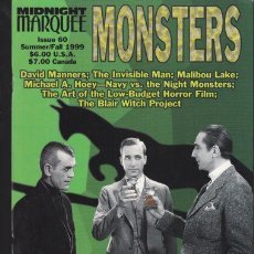 Cine: MIDNIGHT MARQUEE MONSTERS 60 - THE INVISIBLE MAN, BORIS KARLOFF, BELA LUGOSI, THE MUMMY.... Lote 29023063
