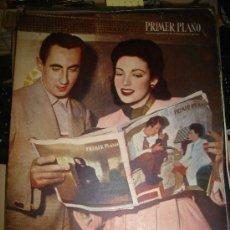Cine: REVISTA PRIMER PLANO. Nº499. 1950 - ROBERT MITCHUM, LINDA DARNELL, VICK RUEDA,FRAY JOSE DE GUADALUPE. Lote 29034925