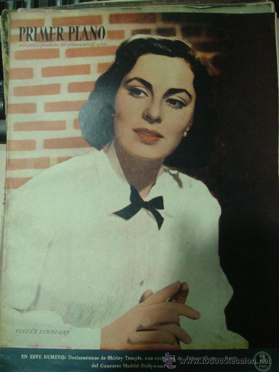 REVISTA PRIMER PLANO. Nº477. 1949 - VIVECA LINDFORS, SHIRLEY TEMPLE, MARTA TOREN, FREDERIC MARCH (Cine - Revistas - Primer plano)