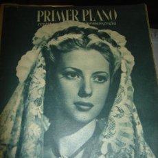 Cine: REVISTA PRIMER PLANO. Nº298. 1946 - MARGARITA ANDREY, HUMPHREY BOGART, GREER GARSON, JOSITA HERNAN. Lote 29047621