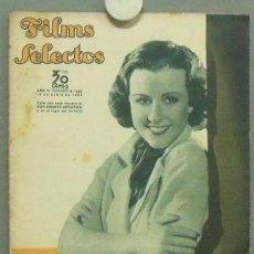 Cine: OM77 MARGARET LINDSAY GARY COOPER CAROL LOMBARD REVISTA ESPAÑOLA FILMS SELECTOS ENERO 1935. Lote 29135676