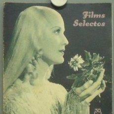 Cine: OM84 ANITA LOUISE REVISTA ESPAÑOLA FILMS SELECTOS DICIEMBRE 1935. Lote 29136515