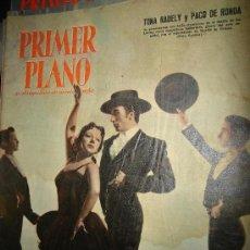 Cinéma: REVISTA PRIMER PLANO. Nº864. 1957 - TONA RADELY, PACO DE RONDA, JOAN COLLINS, MARA LANE, MARILYN. Lote 29143768