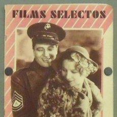 Cine: ON25 GRETA NISSEN EDMUND LOWE REVISTA ESPAÑOLA FILMS SELECTOS NOVIEMBRE 1931. Lote 29150400