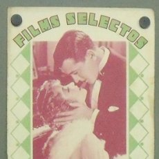 Cine: ON27 RICHARD BARTHELMESS BETTY COMPSON GARY COOPER REVISTA ESPAÑOLA FILMS SELECTOS ENERO 1931. Lote 29150663