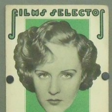 Cine: ON28 MADGE EVANS MIRIAM HOPKINS REVISTA ESPAÑOLA FILMS SELECTOS DICIEMBRE 1933. Lote 29150813