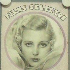 Cine: ON39 JUNE VLASEK REVISTA ESPAÑOLA FILMS SELECTOS NOVIEMBRE 1932. Lote 29153011