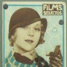 Cine: ON54 SALLY EILERS REVISTA ESPAÑOLA FILMS SELECTOS JUNIO 1932. Lote 29163696